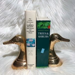 Vintage Brass Duck/ Mallard Bookends
